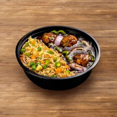Veg Manchurian With Fried Rice image