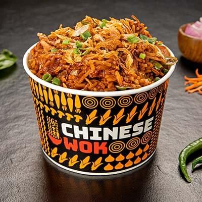 Chicken Desi Chilli With Rice image