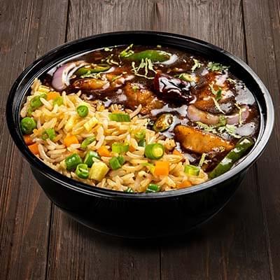 Chicken Triple Schezwan Rice image