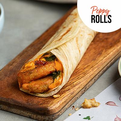 Aloo Tikki Peppy Roll In Wheat Flour (Atta) image