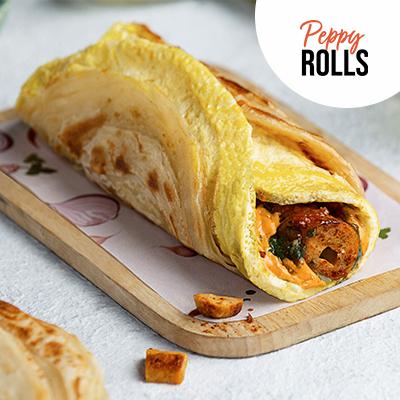 Anda Chicken Seekh Peppy Roll In Wheat Flour (Atta) image