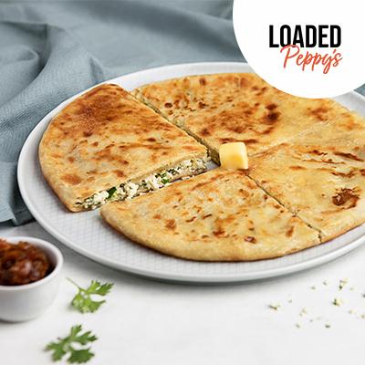 Loaded Paneer Peppy Paratha image