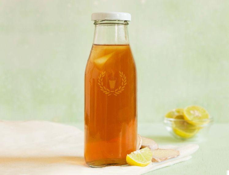 Sugarless Ginger Lemon Ice Tea image