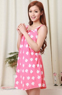 PINK APPLE SLEEVELESS CARTOON PYJAMAS