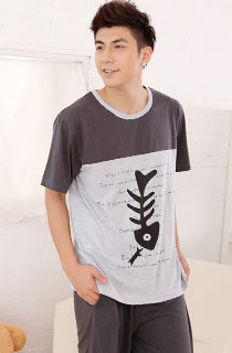 MALE SHORT SLEEVE CARTOON PYJAMAS