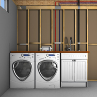 washing machine supply line size