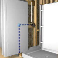 bfd rona   products   diy   install a prefabricated shower