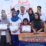 bersama penerima dana CSR Bank Sumut