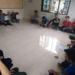 Rapat persiapan aksi DPW FSPMI Sumut.