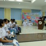 Puluhan siswa SMA mengkuti kegiatan Student Go to BPS yang memberikan edukasi tentang statistik, di Kantor Badan Pusat Statistik (BPS) Sumatera Utara (Sumut), Kamis (28/9).