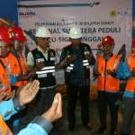 Tim Relawan Reaksi Cepat PLN Sumut doa bersama sebelum berangkat ke Palu dan Donggala, Sulawesi Tengah.