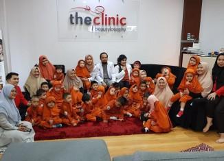 Anak-anak usia dini mendapatkan edukasi perawatan gigi di The Clinic Beautylosophy Medan, Kamis (13/2). Bahkan kesehatan gigi harus mulai dijaga sedari dini yakni sejak usia 3 tahun.