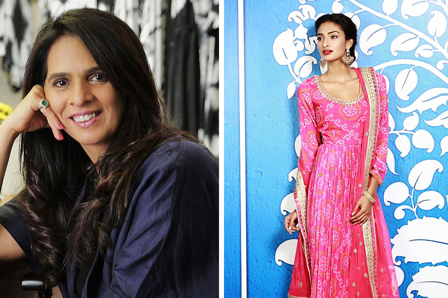 Anita Dongre experiments with bandhani prints