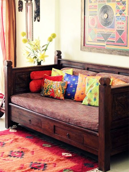 6 home decor essentials for your first living room the for Ethnic bedroom ideas