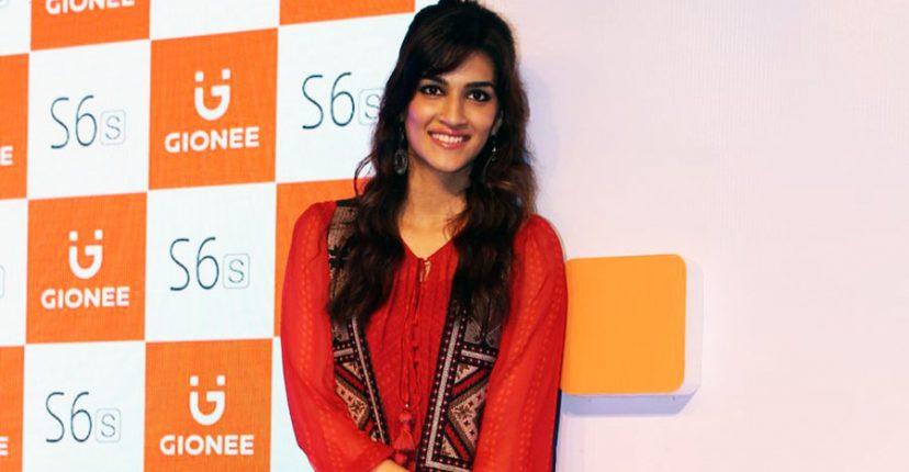 Kriti Sanon In A Label Ritu Kumar Gown and Sleeveless ...