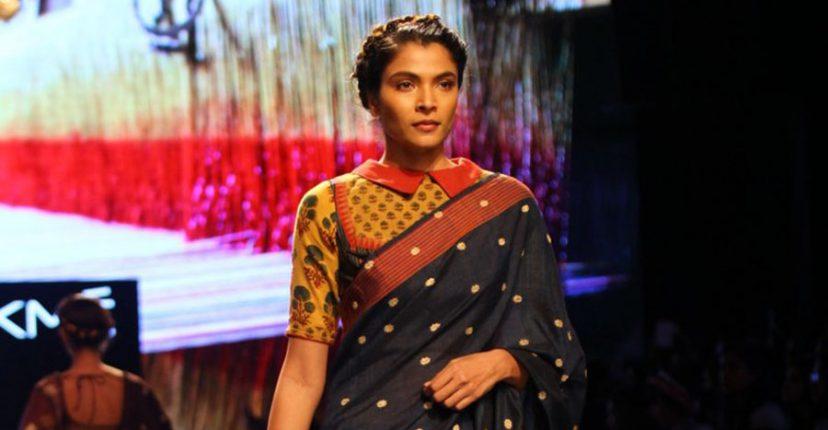 shirt collared saree blouse