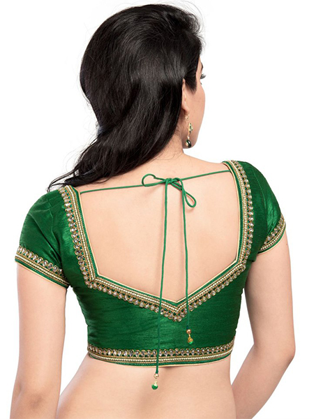 Blouse Stand Neck Designs : Saree blouse back designs that are hot this the
