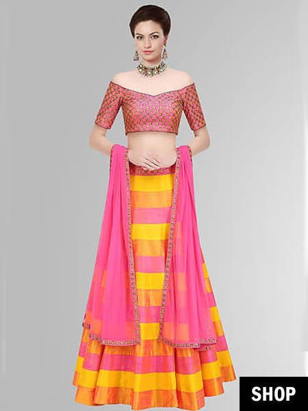5 Style Hacks To Look Slimmer In Lehenga This Wedding Season The