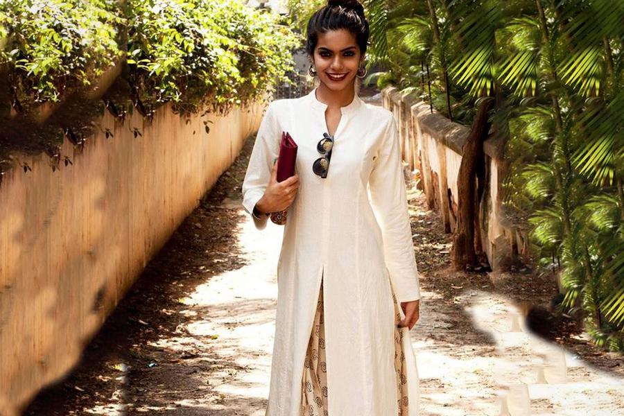 Long kurta and skirt