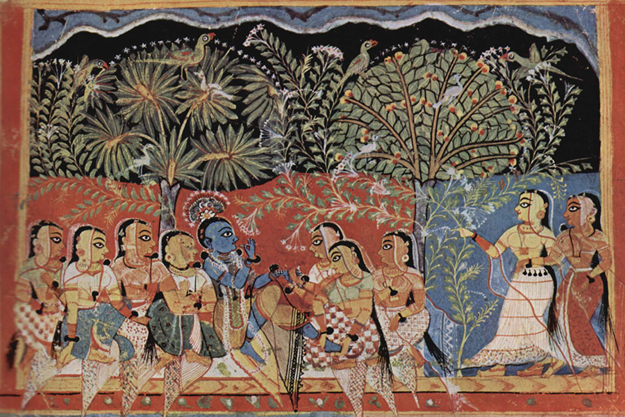 Pattachitra painting inspired by Gita Govind
