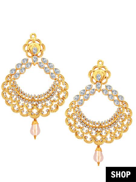 Cz earrings for heart shaped face