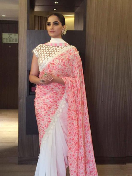 Sonam Kapoor in a double pallu saree