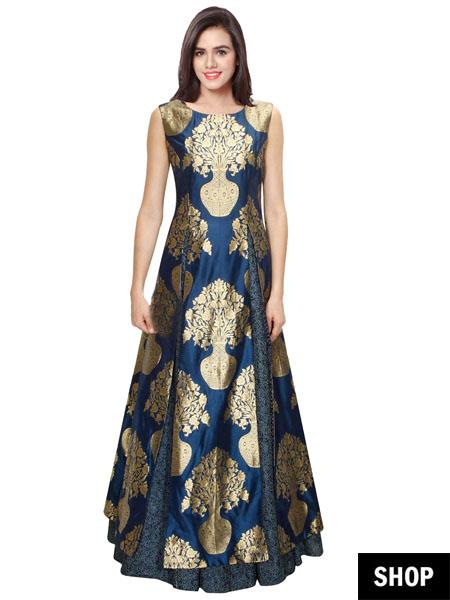 Floor-length gown