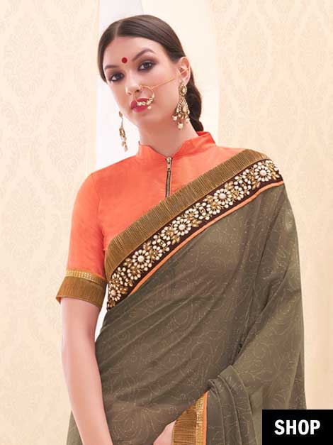 Stand Collar Blouse Designs : Saree blouse designs to inspire your everyday style the ethnic soul