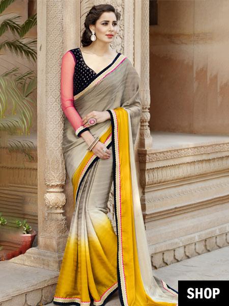 Saree with thin border