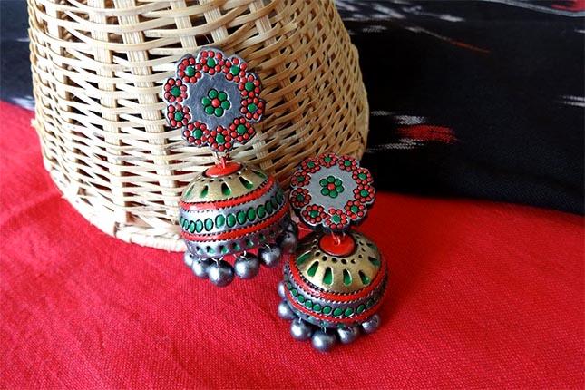 Terracotta earrings