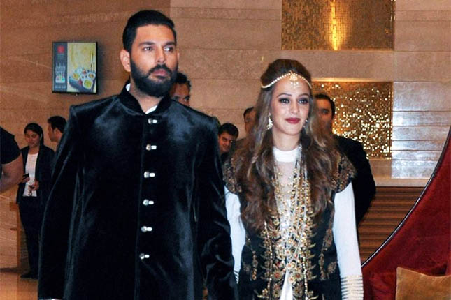 Yuvraj Singh Hazel Keech wedding photos