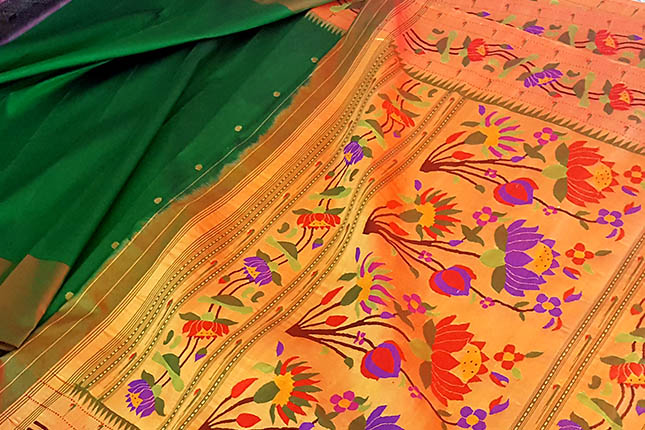 how to recognise a genuine Paithani saree