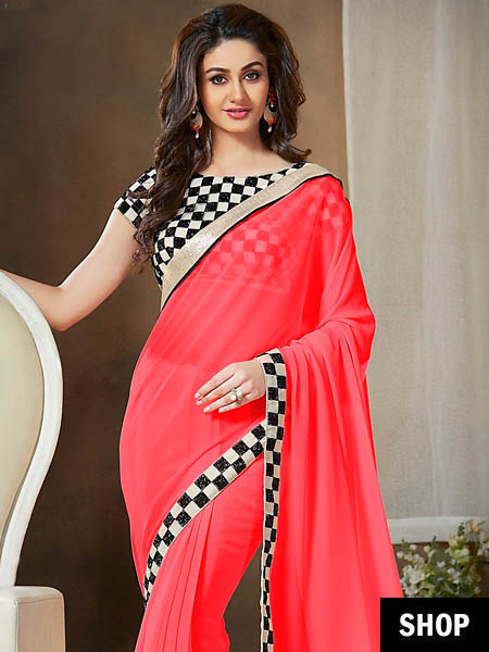 Check border saree