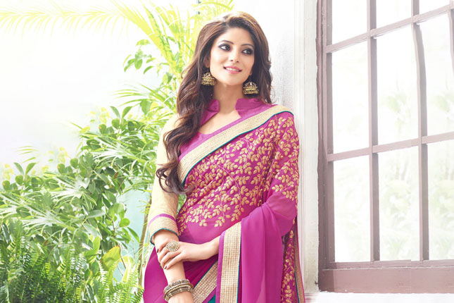 Saree fabrics for body type