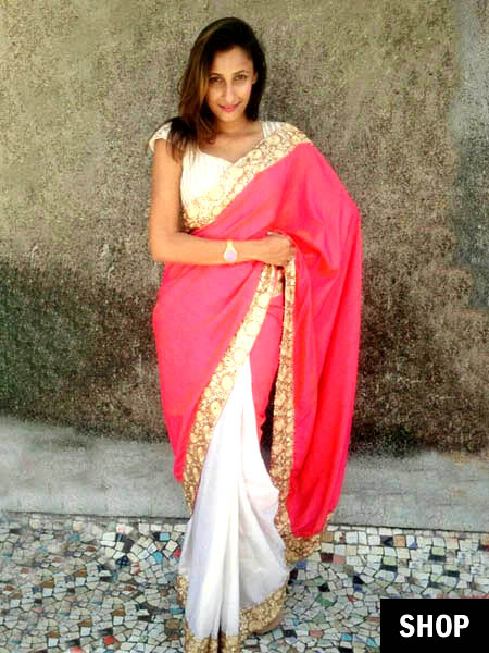 Pink chanderi saree for 2017 wardrobe