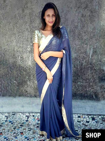 Grey saree for 2017