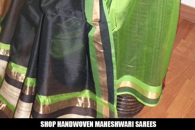 Handwoven Maheshwari Sarees