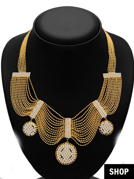 Necklace for sweetheart neck