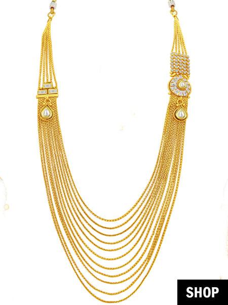 String necklace for boat neck