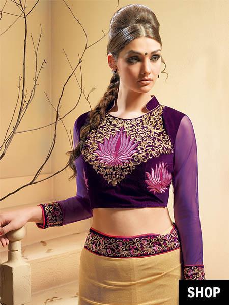 Purple top style blouse