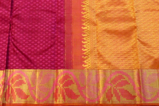 Kanchipuram silk sarees border pallu