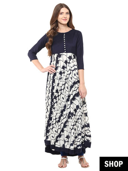 Kurti designs for every body type explore the ultimate for Floor length kurti