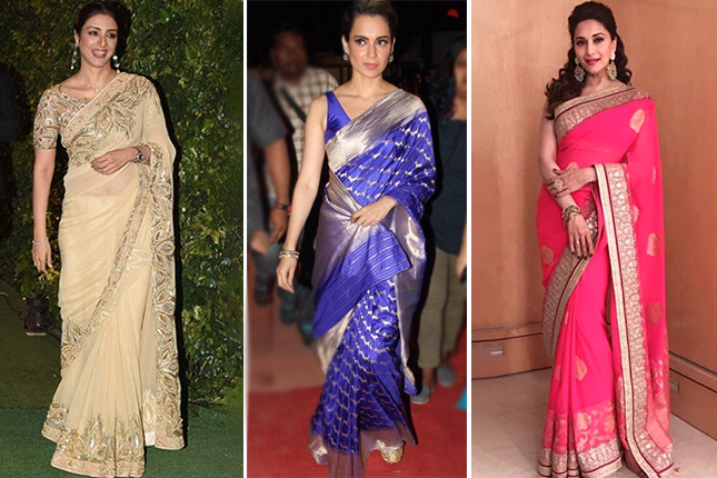 celebrity saree looks