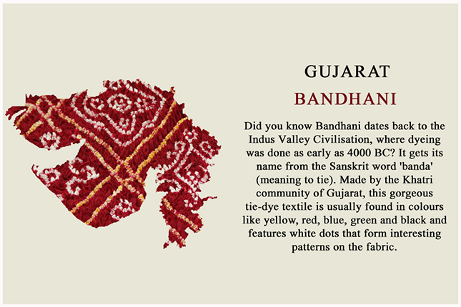 bandhani from Gujarat