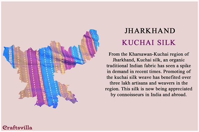 Kuchai silk from Jharkhand