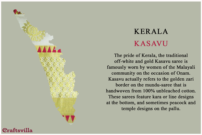 kasavu from Kerala
