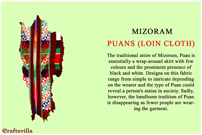 Puans from Mizoram
