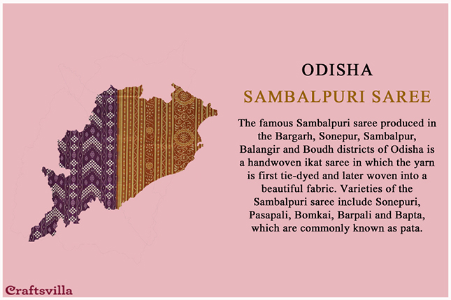 Sambalpuri saree from Odisha