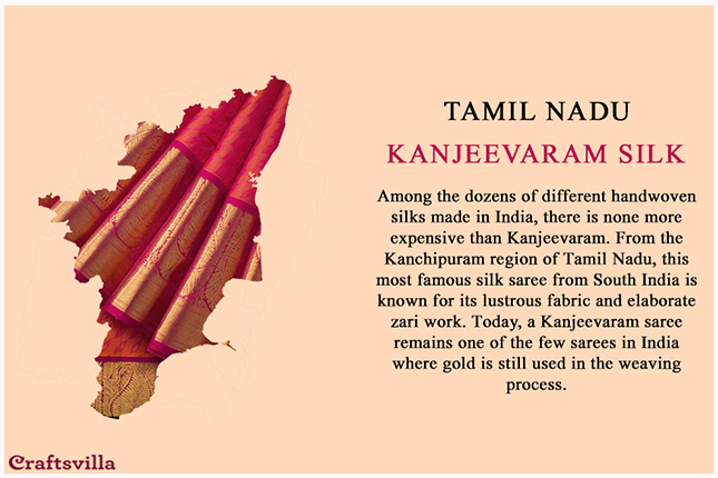 Kanjeevaram silk from Tamil Nadu
