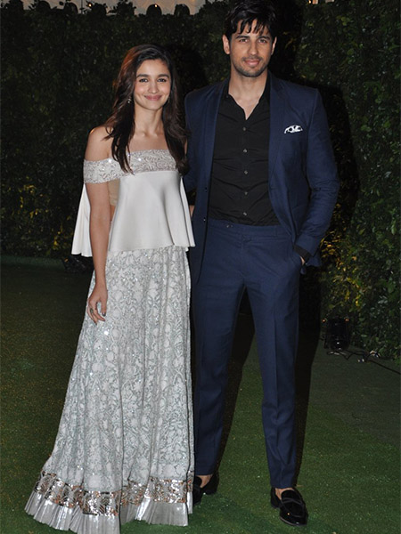 Alia Bhatt Siddharth Malhotra at Trishya Screwvala's wedding